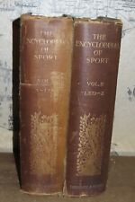 1897 THE ENCYCLOPAEDIA OF SPORT by AFLALO 2 VOLS 40 PLTS HUNTING FALCONRY  *