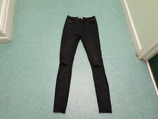 "New Look Skinny Jeans Size 12 Leg 34"" Black Faded Ladies Jeans"