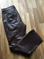 Gap Oxblood Red Leather Pants Boot Cut Wide Leg Sz 14 Regular *VG+