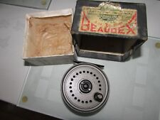 "excellent youngs early beaudex trout fly fishing reel 3.5"" narrow drum lineguard"