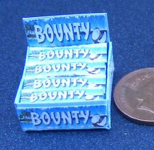 Escala 1:12 caja de presentación de Leche Chocolate Bounty barras tumdee Casa De Muñecas Dulces
