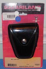 Safariland 190-9 Black Hi-Gloss Chrome Snap Top Flap Chain Handcuff Pouch