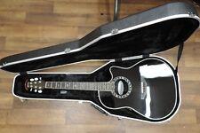Ovation Custom Legend C2079AX Acoustic - Electric Guitar - Black w/ Hard Case