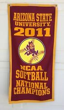 ARIZONA STATE UNIVERSITY 2011 NCAA SOFTBALL NATIONAL CHAMPION BANNER WOMEN SPORT