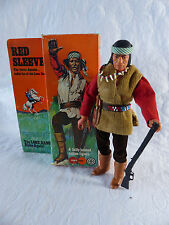 Marx/Gabriel Lone Ranger-RED SLEEVES Apache Indian IN BOX