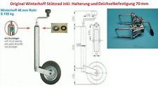 Stützrad mit Halterung u. Befestigung für PKW Anhänger Wohnwagen Neu L4111.70E