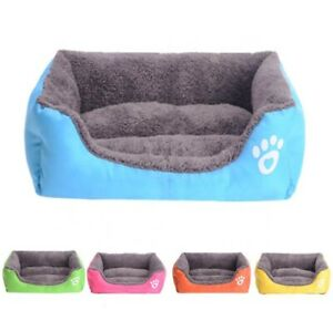 Pet Dog Cat Bed Soft Warm Kennel Mat Pad Blanket Puppy Cushion Washable