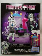 MEGA BLOKS Monster High  FRANKIE STEIN Teen SCREAM SALON ~ 56 Pieces ~ NEW