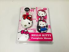 Hello Kitty Mouse Faceplate Mouse w/3 Changing Face Plates FREE N FAST SHIPPING