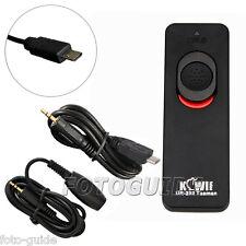 JJC Kabel Fernauslöser Auslöser passt zu Sony RM-VPR1 Anschluss α6500 SLT-A58