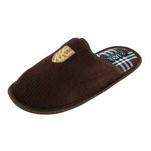 New Easy USA Men's Corduroy and Plaid Slide Slippers