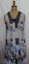 PETER ALEXANDER ~ Blue White Pink Patchwork Print Lace Trim Summer Nightie S