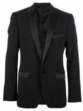 Men  Black Suits Designer Wedding Dinner Party Wear Dinner Suits (Coat+Pants)