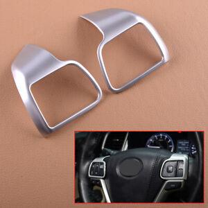2pcs Steering Wheel Frame Trim Fit For Toyota Highlander Kluger 2014-2019