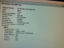 "iMac A1224 20"", A1225 24"" 2007-2008 Radeon HD 2600 256MB Graphics Card 631-0595"