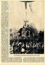 """L' aéroclub Focus La Stella Paris Balloon """"La France"""" Text + pictures of 1910"""