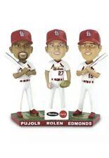 NEW St Louis Cardinals MV3 PUJOLS, ROLEN, EDMONDS Triple BOBBLEHEAD