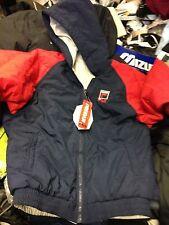 FILA coat quilted REVERSIBLESTYLEWINTER JACKET AT £30  FULL ZIP X/S NAVY