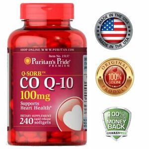 Puritan's Pride CO Q-10 Heart Cardiovascular 100 mg - 240 Softgels HALLOWEEN