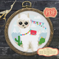 Baby Llama Alpaca Embroidery Cross stitch PDF Pattern #137