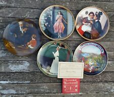 Norman Rockwell Plates Set of 5 Gorham Fine China Authentic