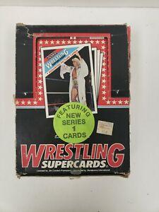 RARE 1988 Wonderama NWA WCW Wrestling Cards Full Wax Box - 48 Packs Flair Sting
