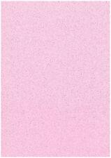 Paquete De 20 Hojas Suave Bebé Rosa A4 Stardust Brillo Papel Sparkle Artesanía 120gsm