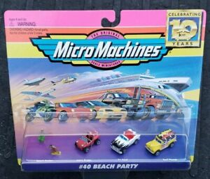 Micro Machines #40 Beach Party Vehicle Set Galoob Vintage 1994 VHTF MISB