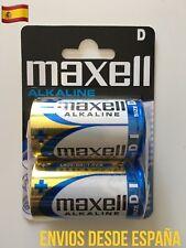 2 Pilas Blister MAXELL D LR20 MN1300 Alkaline Battery alcalina Original 1.5V