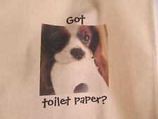 Got toilet paper? Light Weight Tote Bag Blenheim Cavalier King Charles Spaniels