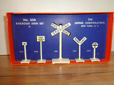 LIONEL # 310 RAILROAD SIGN SET IN ITS ORIGINAL BOX WITH INSERT