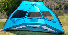 TAGVO Pop Up Beach Tent Sun Shelter with Privacy Front Door Easy Set Up Tear Dow