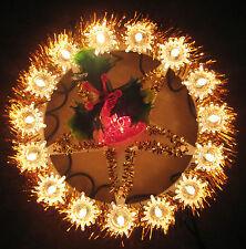 ALBERO di NATALE GHIRLANDA Lucine & 24 rosso Bell lampadine elettriche