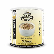 Augason Farms 5-10133 Maple Brown Sugar Oatmeal Super Can Food Storage, 10 Can w