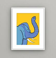 Nursery Kids Childrens Bedroom Safari Animal Elephant Wall Art Picture A4 Print