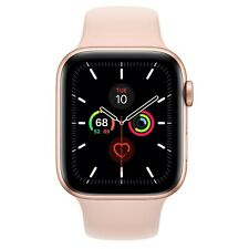 Apple Watch Series 5 44mm Gold-Tone Aluminium Case with Pink Sand Sport Band GPS