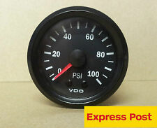 VDO 52mm 100 PSI MECHANICAL OIL OR AIR PRESSURE GAUGE