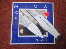 AUTOCOLLANT STICKER AUFKLEBER MATRA DEFENSE MICA AIR TO AIR MISSILE