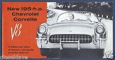 1955 CHEVROLET Chevy CORVETTE Brochure V8 + Powerglide HIGH QUALITY 1970s REPRO