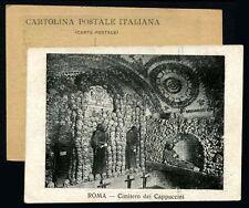Roma Cimitero dei Cappuccini Cartolina Postale Italiana Lazio teschio