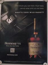 New Lot of 2 Store Display Paper Posters HENNESSY VERY SPECIAL WILD RABBIT!