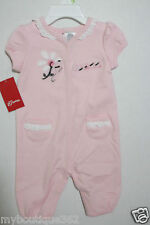 GUESS NEW BORN BABY GIRLS PINK FLORAL COVERALL SUIT  6/9 MONTH NEW WITH TAG