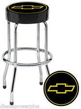 Chevy Chevrolet bow tie Bar Stool chair shop work bench garage logo man cave ss