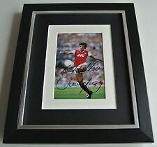 David O'Leary SIGNED 10x8 FRAMED Photo Mount Autograph Display Arsenal AFTAL COA