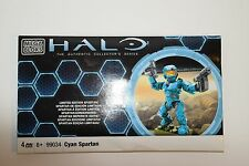 Halo Mega Bloks 99034 Cyan Spartan Figure