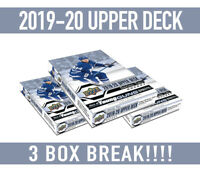 3x BREAK!19-20 Upper Deck Hockey SERIES 2 BOX BREAK Random Teams-Free Shipping!