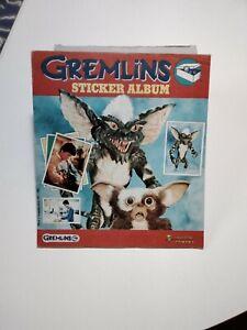 GREMLINS 1984 PANINI STICKER ALBUM 126 stickers stuck in