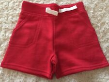 NEW Garanimals Boys Red Sweatpants Shorts Faux Drawstring 3-6 Months