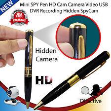 NUOVO USB MINI SPY PENNA CON VIDEOCAMERA NASCOSTA SPYCAM DVR registrazione video HD fino a 32GB UK