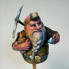 1/12 BUST Resin Figure Model Kit Dwarf Miner Fantasy Characters Unpainted